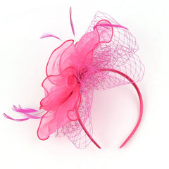 Vintage Pillbox Feather Derby Headband Fascinator Hat Hair Band For Cocktail Tea Party