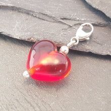 Birthstones in Glass - Cora Heart Clip on Charms a Charm from A Little Trinket