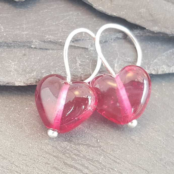 Birthstones in Glass - Cora Heart Hoop Earrings a Earrings from A Little Trinket