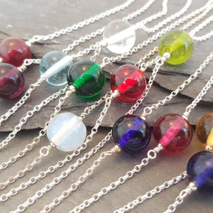 Birthstones in Glass - Emily Necklace - Choker style a Necklace from A Little Trinket