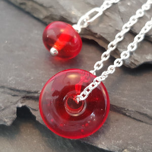 Birthstones in Glass - Verity Necklace a Necklace from A Little Trinket