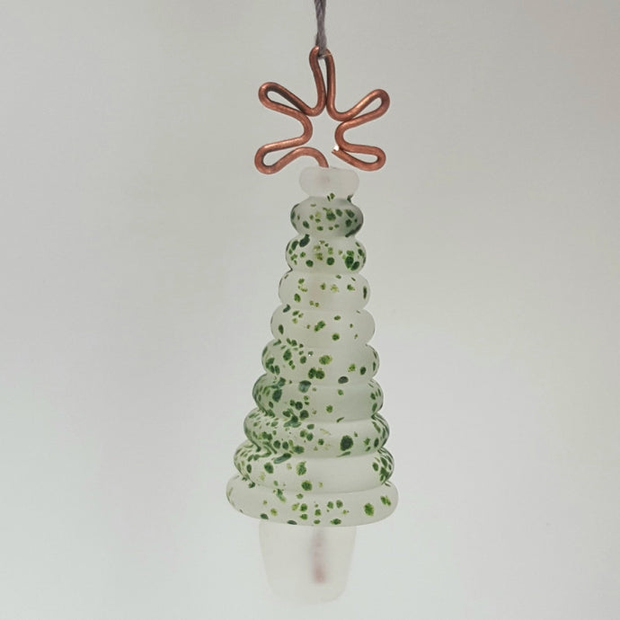Christmas Tree Ornament, hanging- Frosted Green Speckle a Ornament from A Little Trinket
