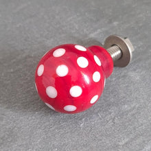 Drawer Pulls and Door Knobs - Polka Dotty a Drawer Pull from A Little Trinket