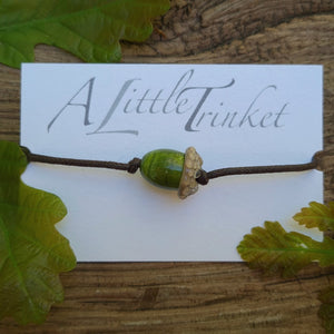 Eco Bracelet - Acorn a Bracelet from A Little Trinket