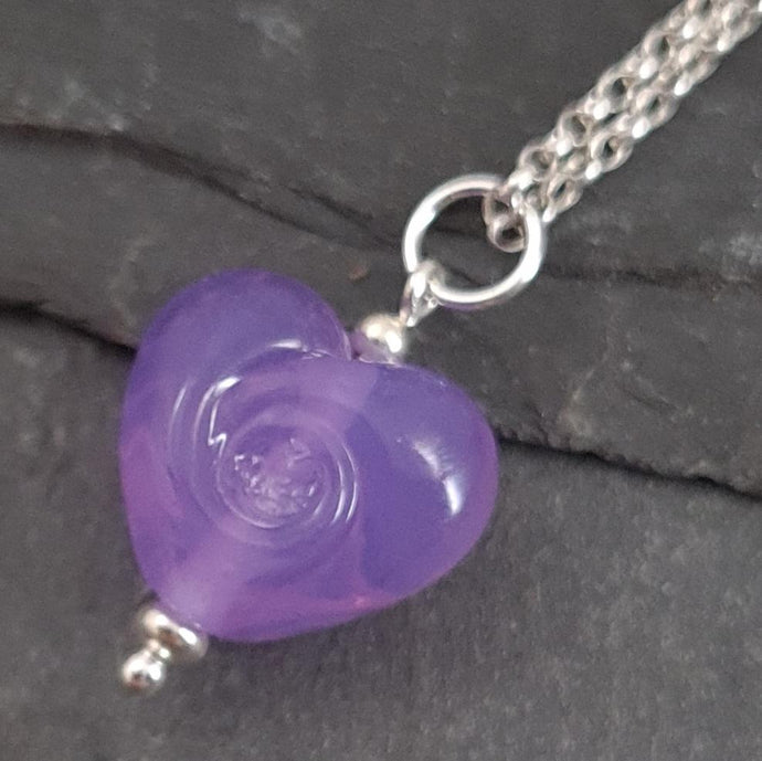 Noviomagus Collection - Cora Swirl Heart Necklace a Necklace from A Little Trinket