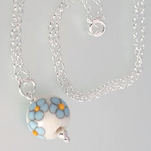 Posy Necklace - Forget me not a Necklace from A Little Trinket