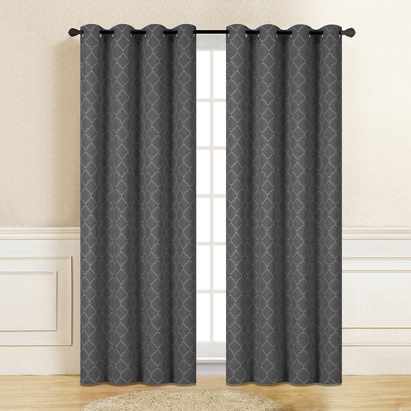 "D&B Pantera Collection - Printed Blackout Curtain Panel (56"" x 90"") - Grover Essentials"