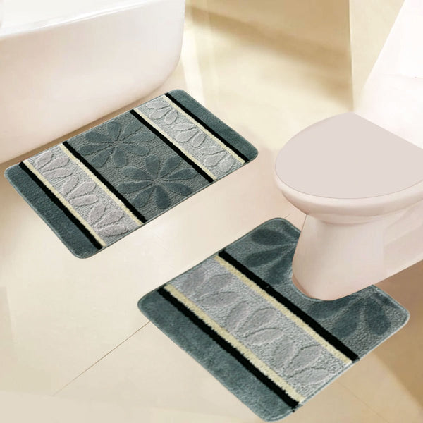 2 PC Printed Bath Mat Set - Grover Essentials