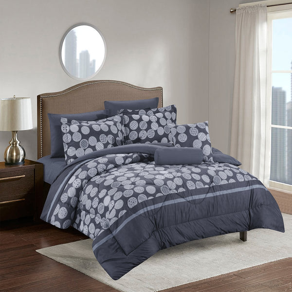 Huron Luxury Comforter Set - Bed in A Bag – 8 Piece Bed Sets – Ultra Soft Microfiber - {product_type] | Grover Essentials