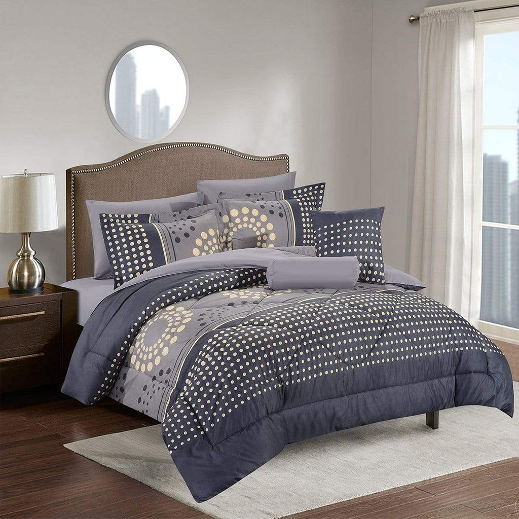 Simcoe Luxury Comforter Set - Bed in A Bag – 8 Piece Bed Sets – Ultra Soft Microfiber - {product_type] | Grover Essentials