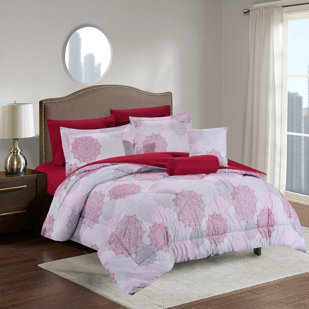 Comforter Sets Bed In A Bag Ultra Soft Microfiber Simcoe Luxury Comforter Set King Size 8 Piece Bed Sets Home
