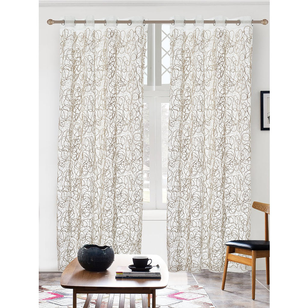 "Sydney Embroidered Sheer Curtain Panel w/ Grommets - 56"" x 90"" - {product_type] 