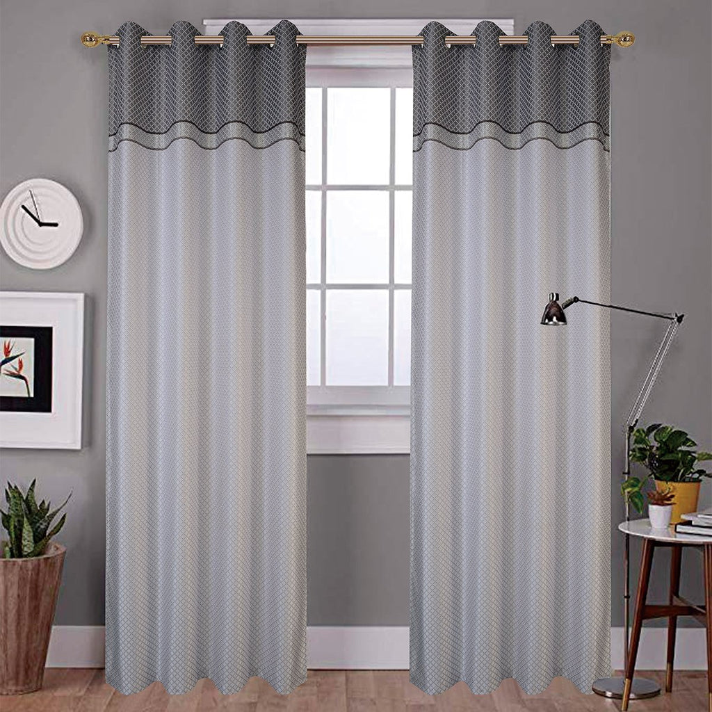 "Tina Embroidered Curtain Panel w/ Grommets - 54"" x 90"" - Grover Essentials"