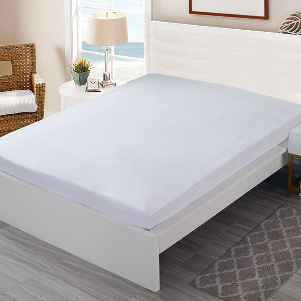 Hypoallergenic Waterproof Cotton Terry Fitted Mattress Protector - Grover Essentials