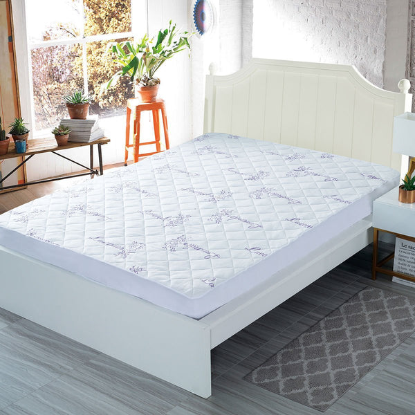 Hypoallergenic Waterproof Lavender Infused Bamboo Fitted Mattress Protector/Pad - Grover Essentials