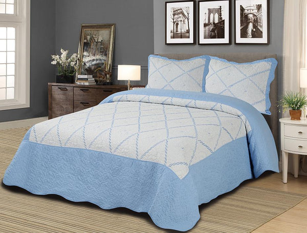 3 PC Embroidered Quilt Set - {product_type] | Grover Essentials