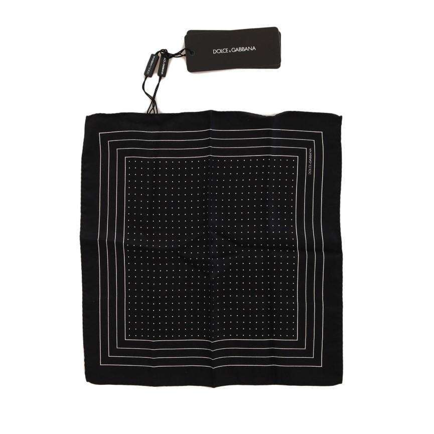Black Silk Dotted Handkerchief