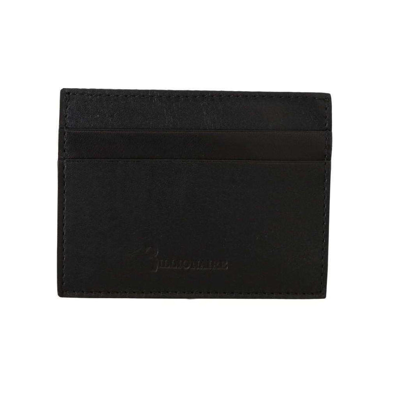 Black Leather Cardholder Wallet
