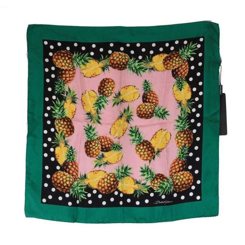 Green Pineapple Silk Scarf