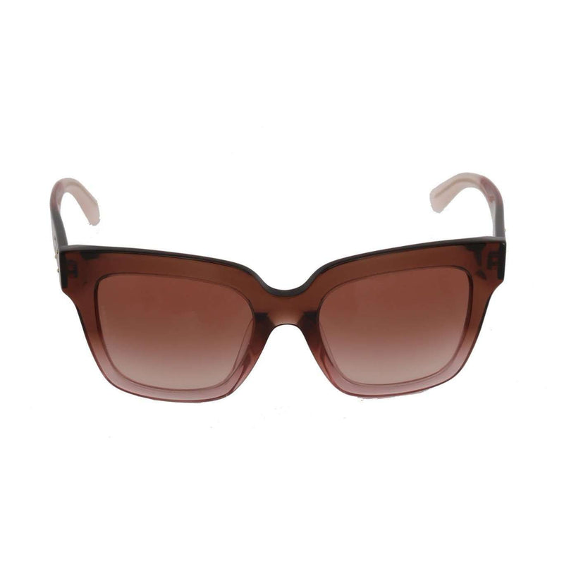 Pink Square Transparent Sunglasses