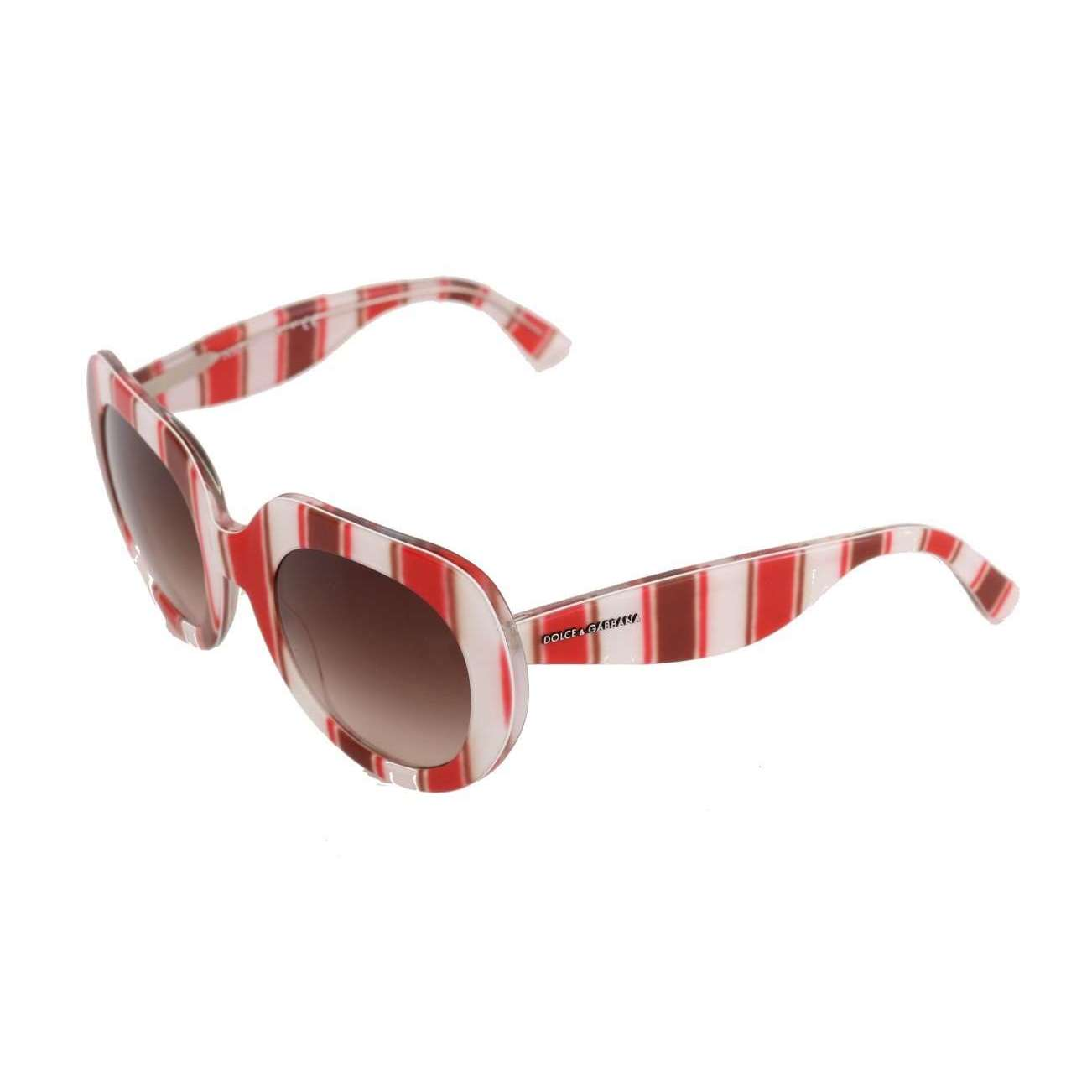 White Red Striped Sunglasses