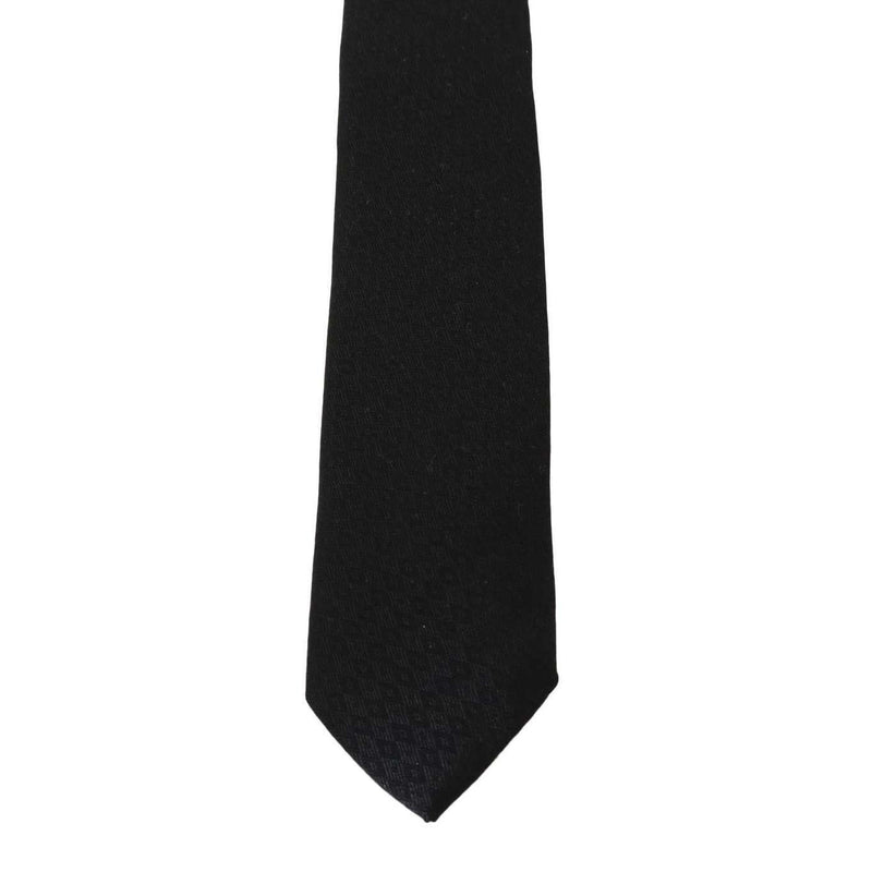 Black Silk Rhombus Pattern Tie