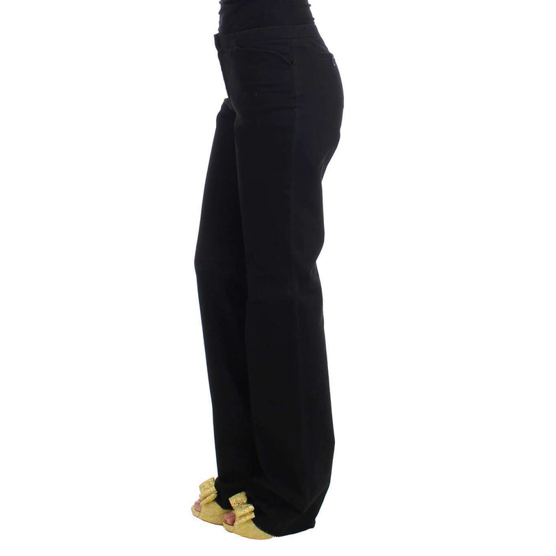 Black straight cotton pants