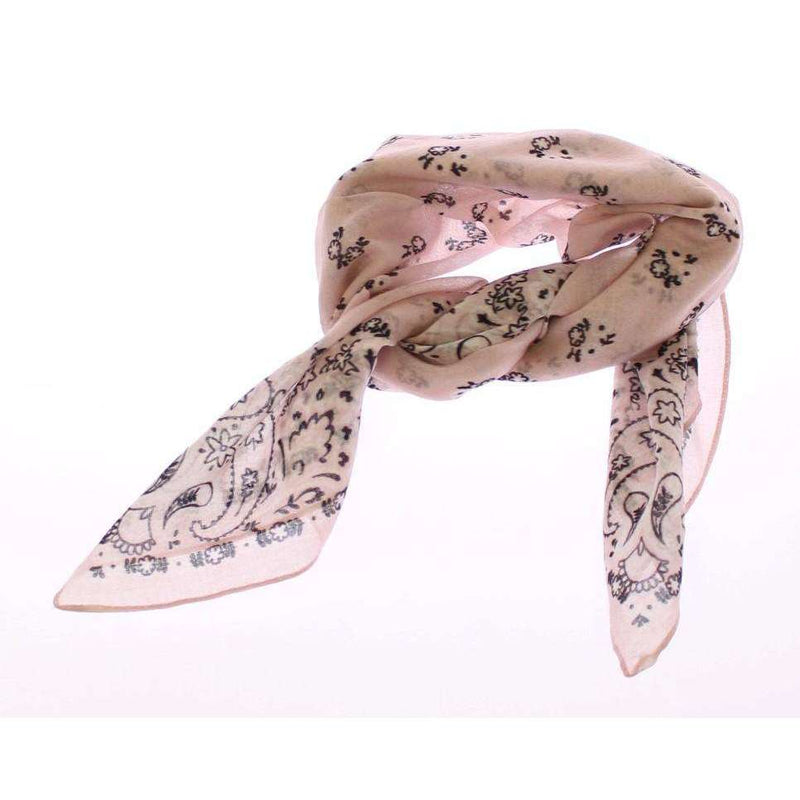 Pink Floral Pattern Cotton Scarf