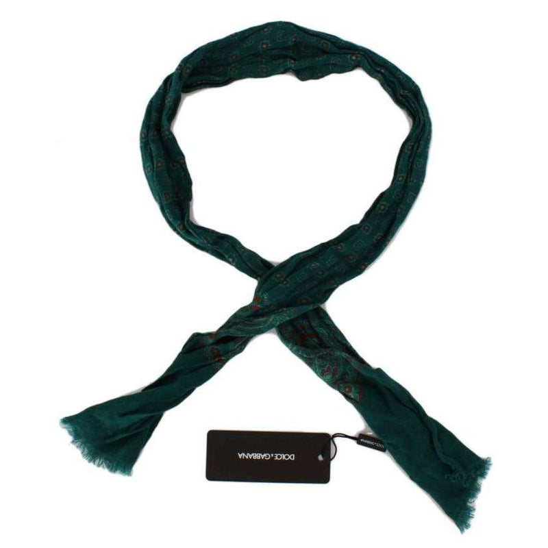 Green Baroque Pattern Scarf