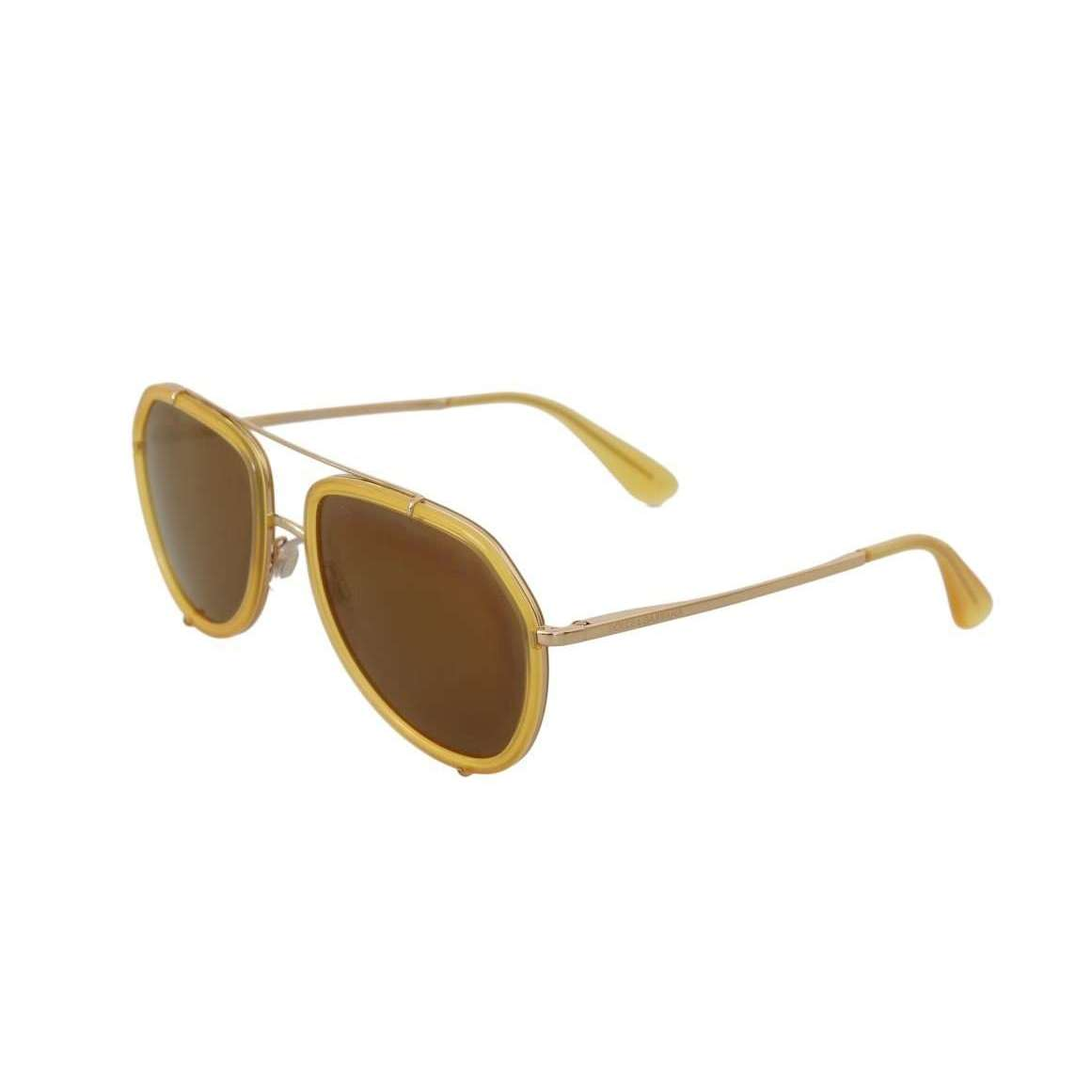 Gold Yellow DG2161 Pilot Sunglasses