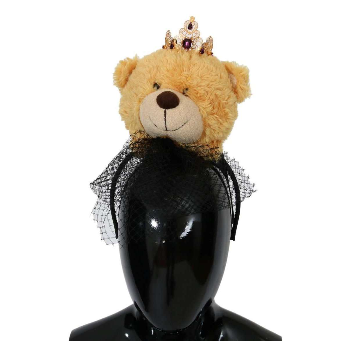 Brown Teddy Bear Gold Crystal Diadem