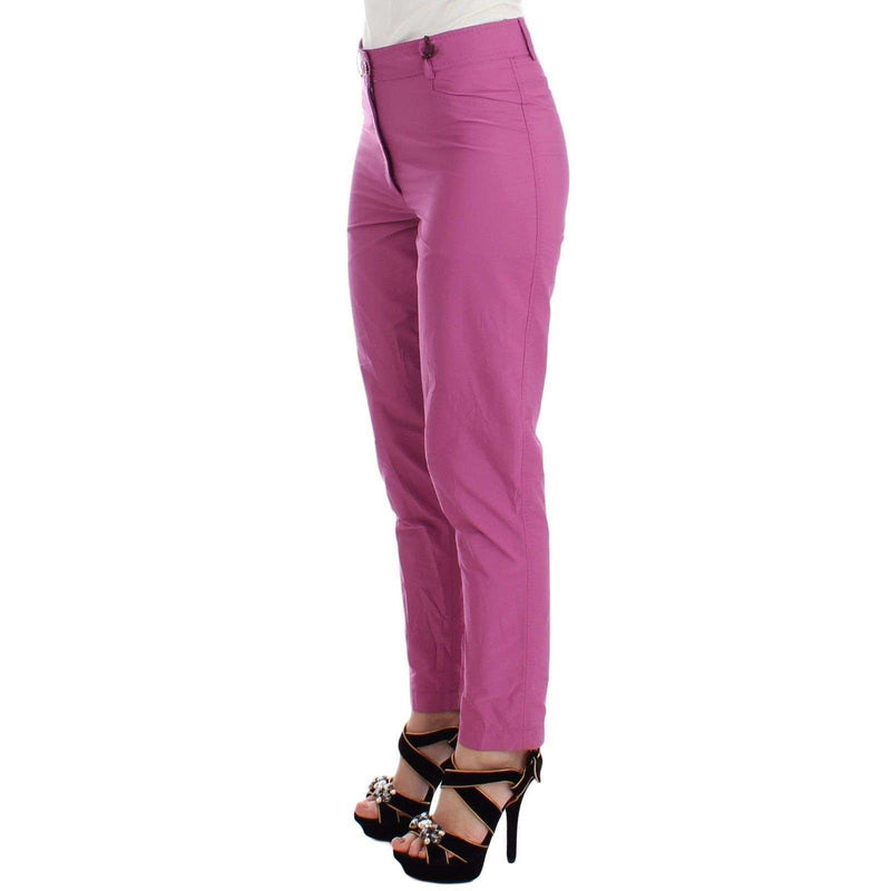 Purple Chinos Casual Dress Pants Khakis
