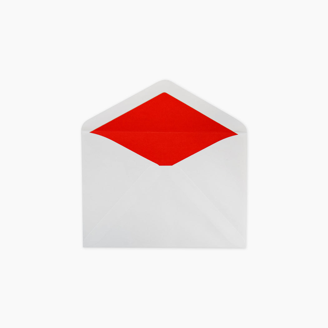 Lined Envelopes - Red