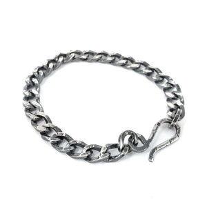 Large Square Curb Chain Bracelet