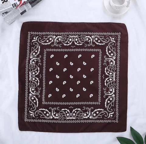 Brown bandana scarf