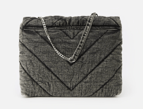 Grey Soft Denim Bag