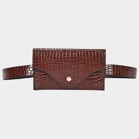 Brown Croc Belt Bag