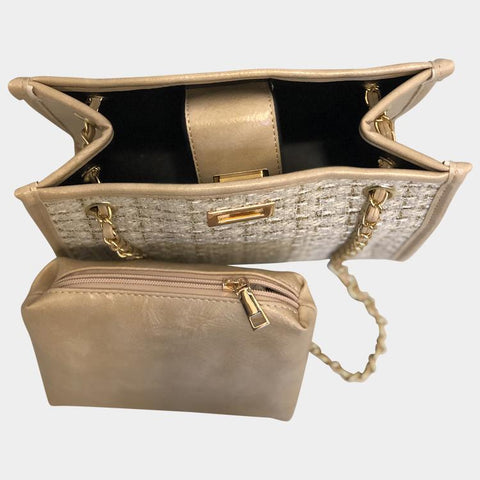 Tweed Ivory Shoulder Bag