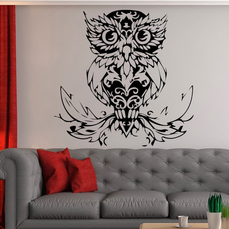 bird wall stickers owl pattern removable art vinyl wall decals cool