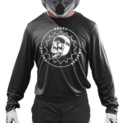 Broke Amateur Racing Jersey - Circle Logo: Standard Name/Number