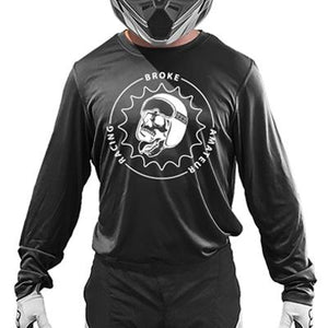 Load image into Gallery viewer, Broke Amateur Racing Jersey - Circle Logo: Standard Name/Number