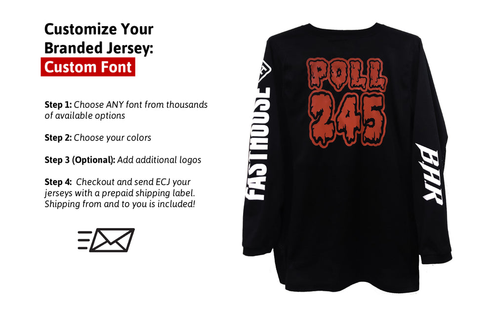 Customize Your Branded Jersey - Custom Font