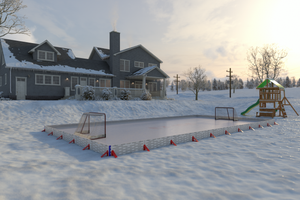 Custom 60 Minute Backyard Rink ™ (110 x 185 ft)