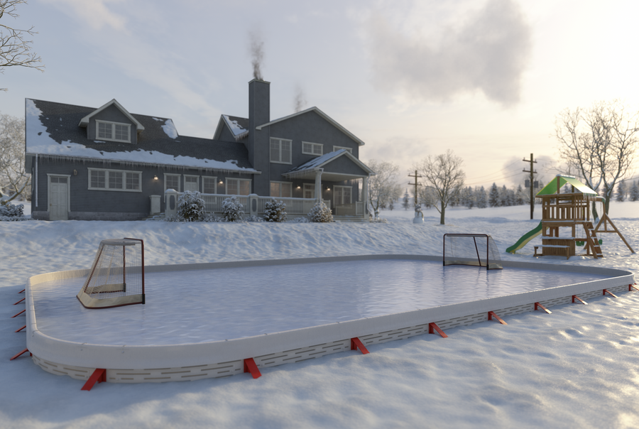 Custom 60 Minute Backyard Rink ™ (55 x 55 ft)