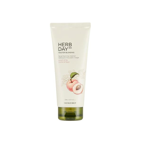 [THE FACE SHOP] Herbday 365 Cleansing Foam 170ml #Peach & Fig
