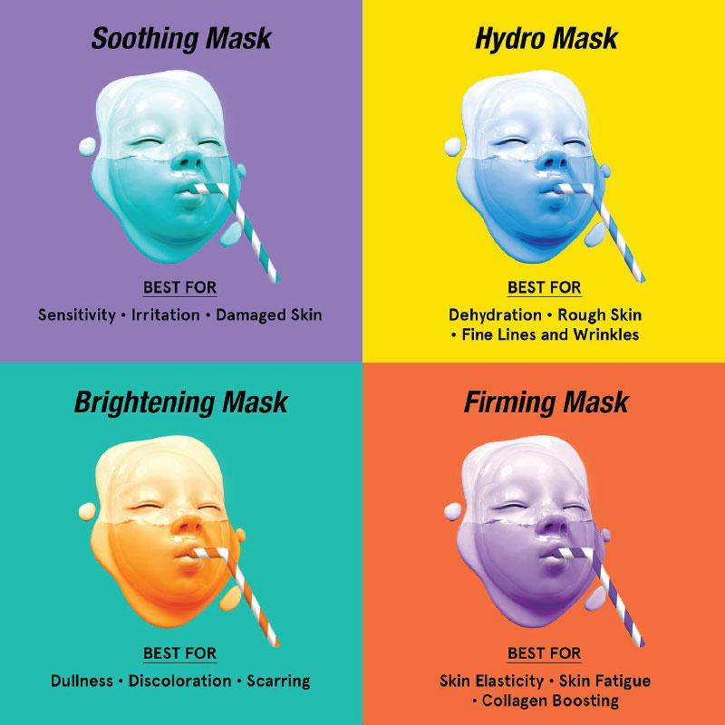 Dr.Jart+ Sleeping mask [Dr.Jart+] Dermask Shaking Rubber Shot 50g  (#Luminous Shot, #Soothing Shot, #Elastic Shot, #Hydro Shot)