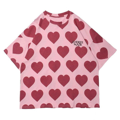 Aelfric Eden Peach Heart Print Cotton Tee
