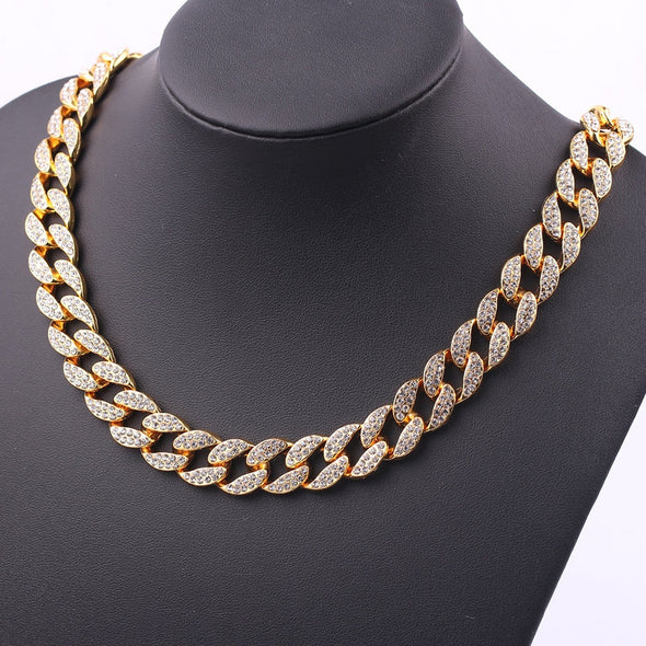 AE Simple Full Diamond Necklace