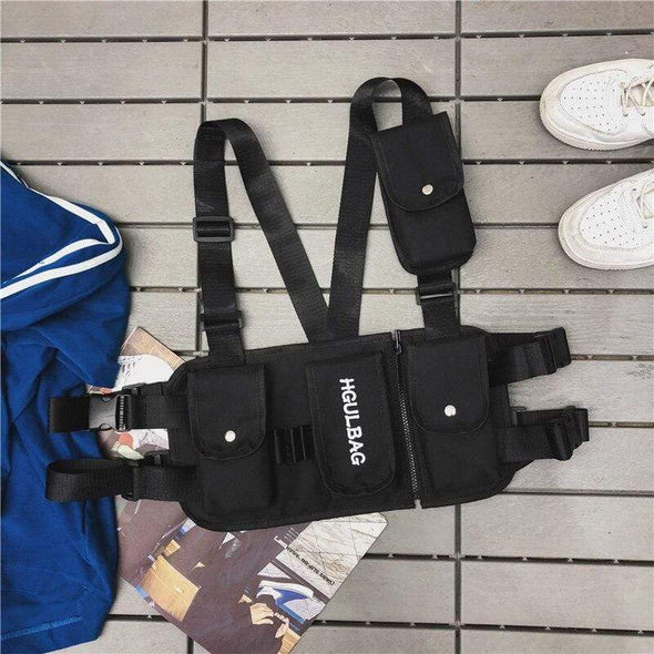 AE  Hip Hop Streetwear Functional Military Tactical Chest Bag