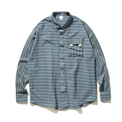 AE LETTER PRINTED STRIPE SHIRT